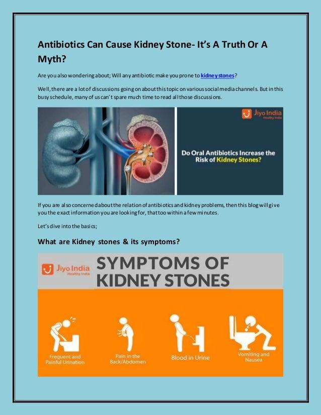 Antibiotics Can Cause Kidney Stone