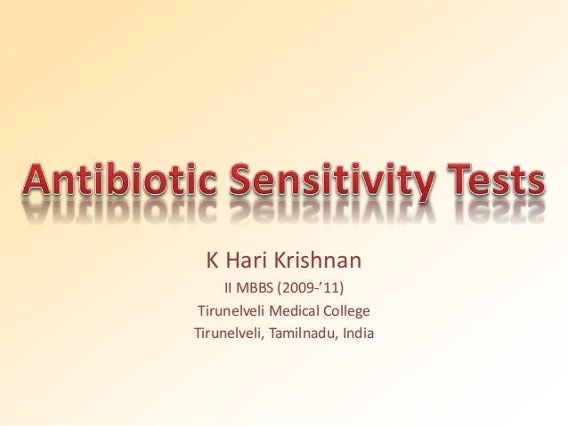 K Hari Krishnan  II MBBS (2009-'11)  Tirunelveli Medical College  Tirunelveli, Tamilnadu, India