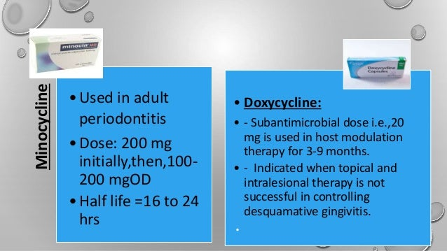 Dose gingivitis doxycycline