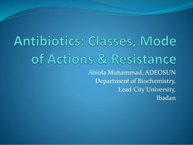 Abiola Muhammad, ADEOSUN Department of Biochemistry, Lead City University, Ibadan