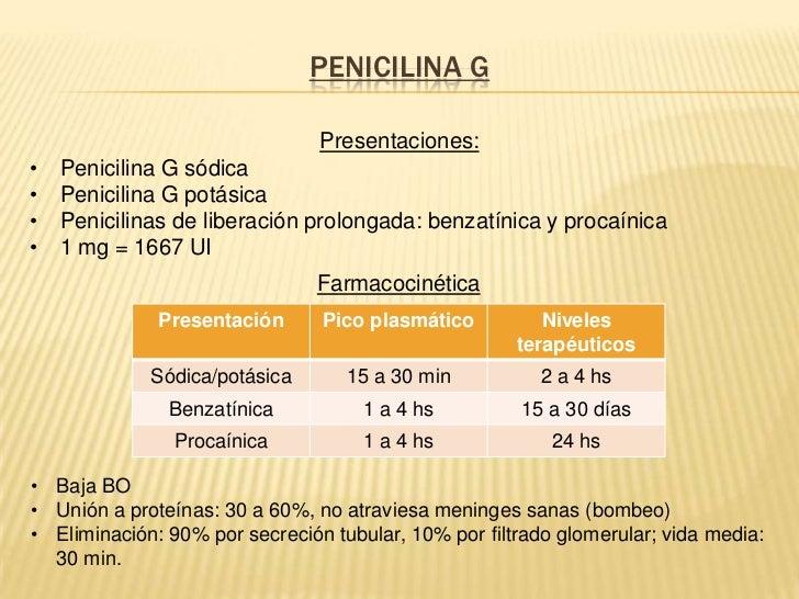Penicilina procainica presentacion