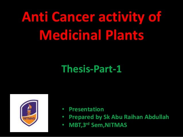 anti cancer phd thesis Find a phd search funded phd projects, programs & scholarships in cancer search for phd funding, scholarships & studentships in.