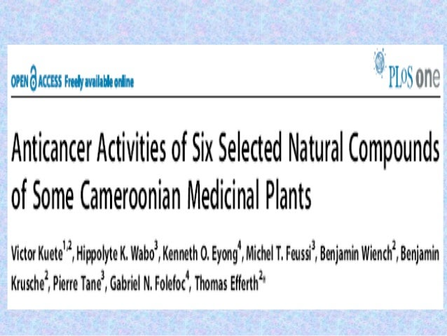 INTRODUCTION• Natural compounds are well known as source for drug of  several human ailments.• Ex. Vincristine, irinotecan...