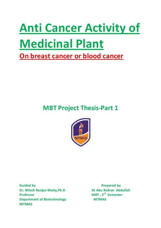 medicinal plant thesis