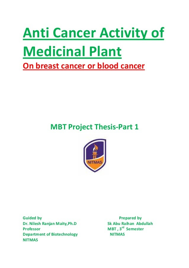 Cancer introduction thesis