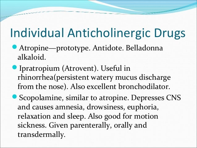 anticholinergics, Skeleton