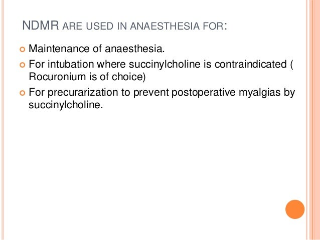  Local Anaesthetics : Except procaine local anaesthetics prolong the action by stabilizing post synaptic membrane.  Hypo...