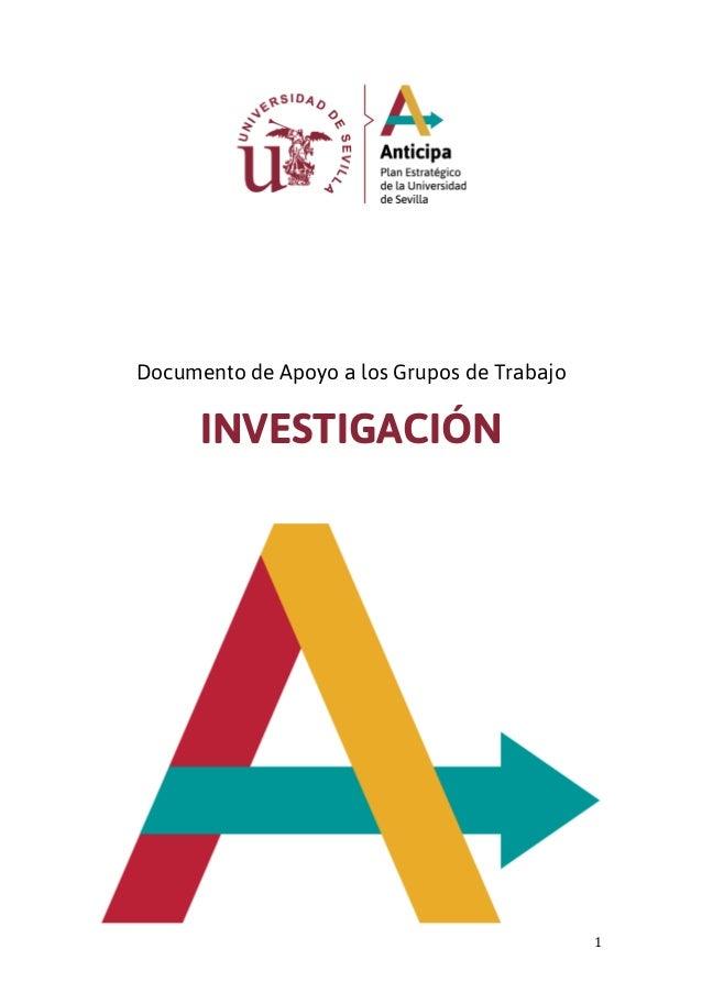 1 Documento de Apoyo a los Grupos de Trabajo INVESTIGACIÓN
