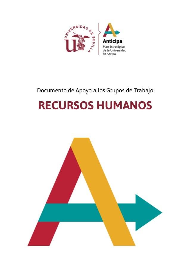 Documento de Apoyo a los Grupos de Trabajo RECURSOS HUMANOS