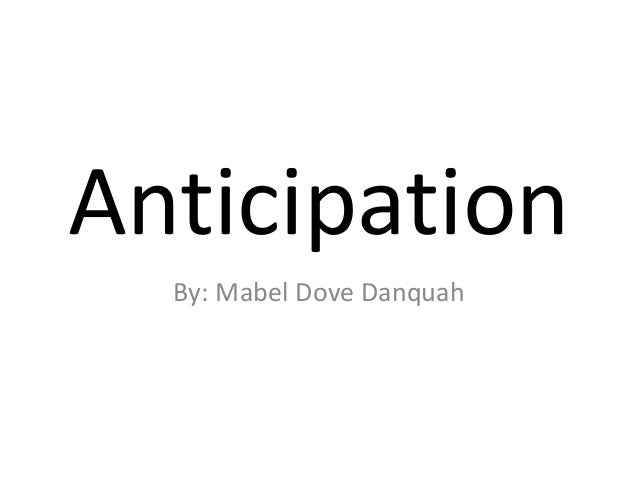 anticipation by mabel dove danquah