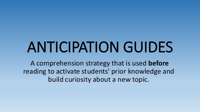 anticipation guides ppt