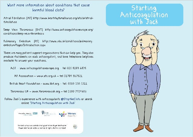 Starting Anticoagulation With Jack Patient Leaflet