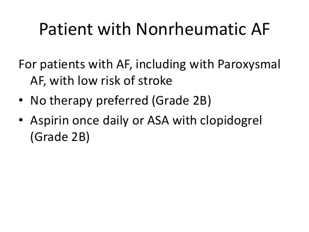 paroxysmal atrial fibrillation anticoagulation guidelines