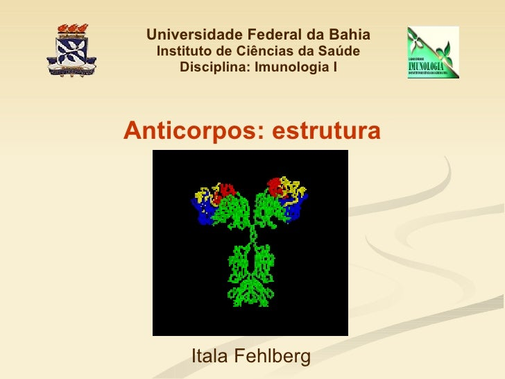 Universidade Federal da Bahia Instituto de Ciências da Saúde Disciplina: Imunologia I Anticorpos: estrutura Itala Fehlberg