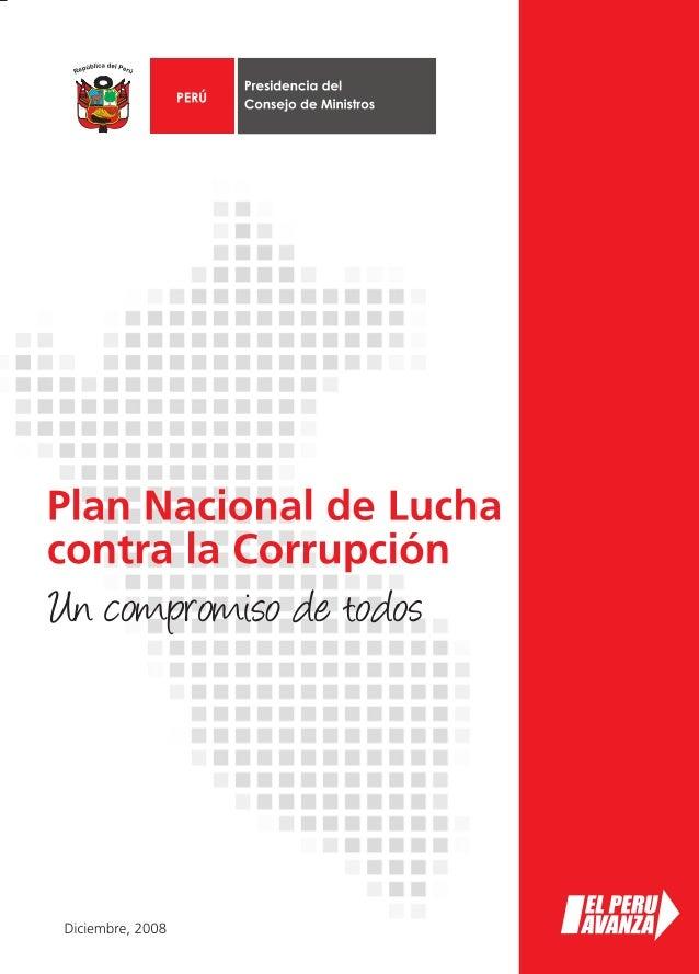 Plan Nacional de Lucha contra la Corrupción                                              Un compromiso de todosIntroducció...