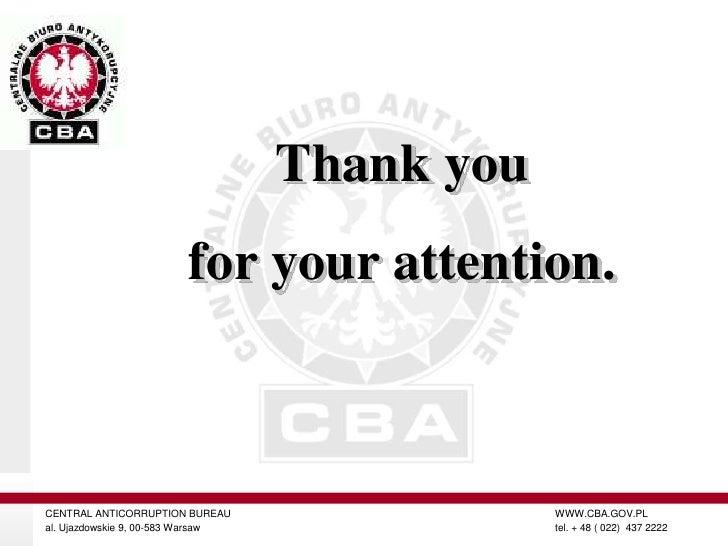 CENTRAL ANTI-CORRUPTION BUREAU (CBA)