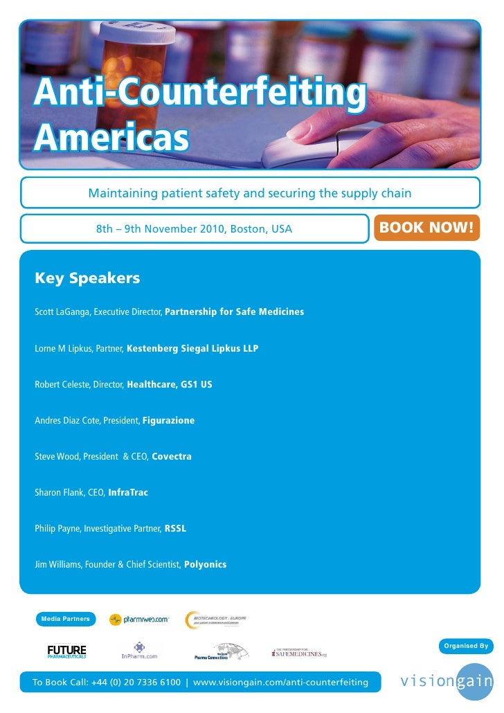 Anti-Counterfeiting Americas                                                              Maintaining patient safety and s...