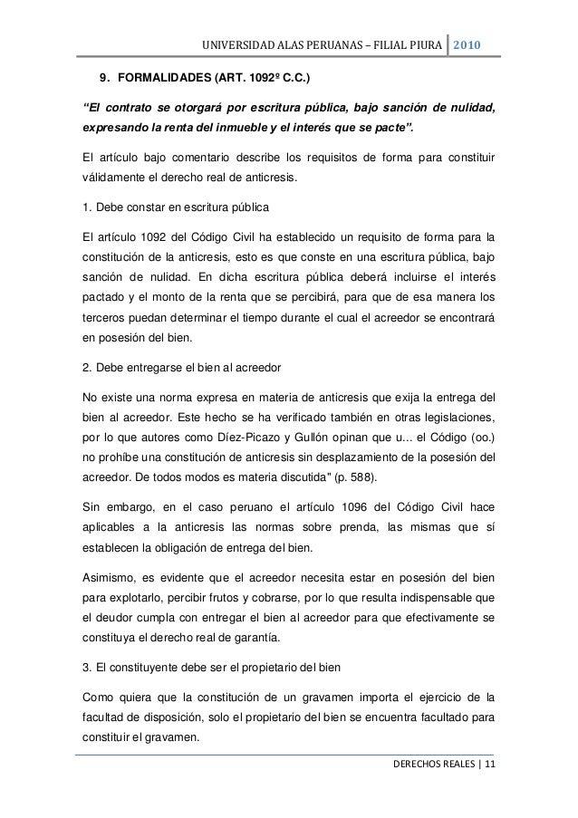 Anticresis e hipoteca en el derecho civil peruano for Contrato de hipoteca