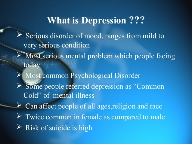 Anti depressant and its classifications Slide 2