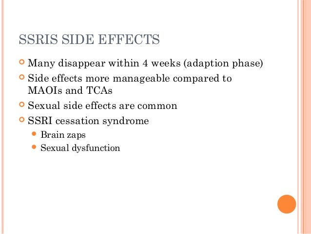 Do antidepressant sexual side effects go away