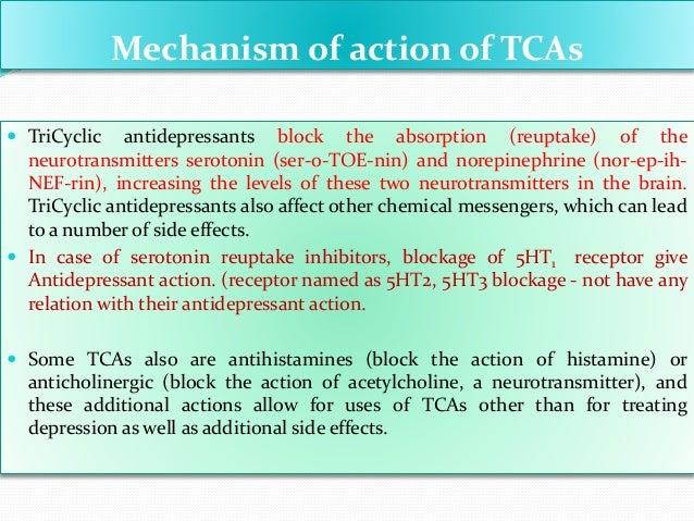 Non-sedating tricyclic antidepressants side