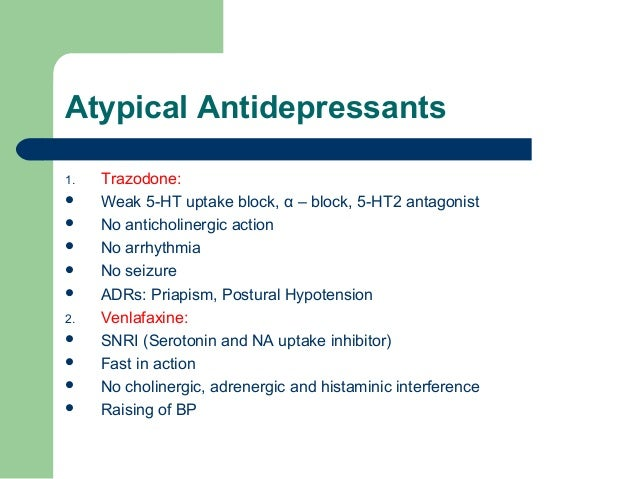 Sedating or activating antidepressants list