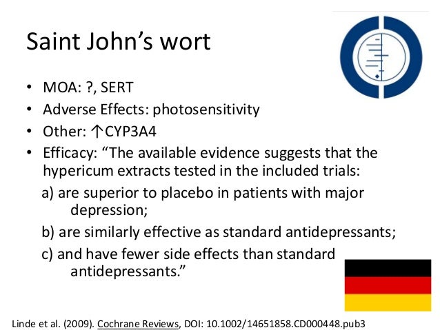 St. John's wort can cause serious side effects