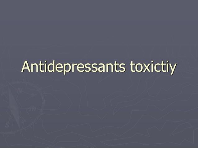 Antidepressants toxictiy