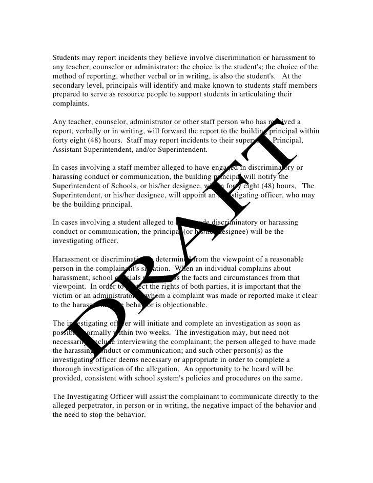 Verbal discrimination essay