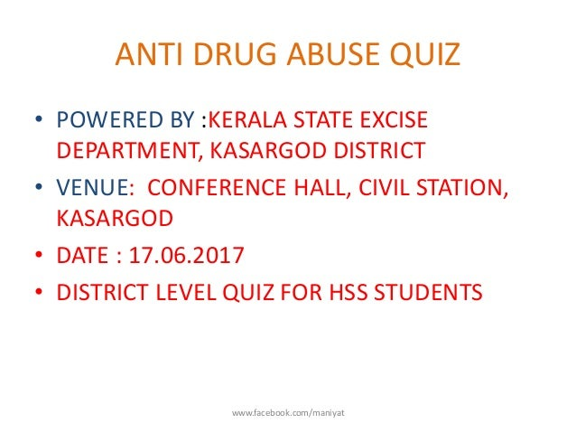 ANTI DRUG ABUSE QUIZ
