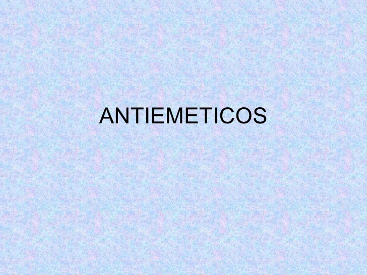 ANTIEMETICOS