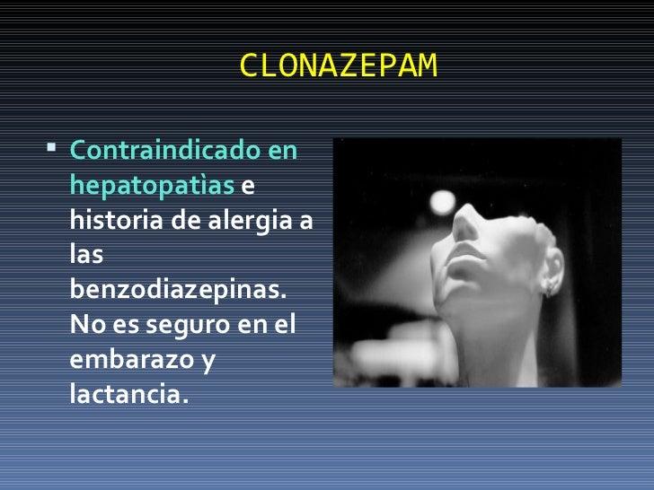 Clonazepam y lactancia