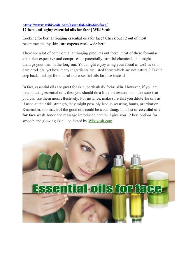 12 Anti-aging Essential Oils For Face