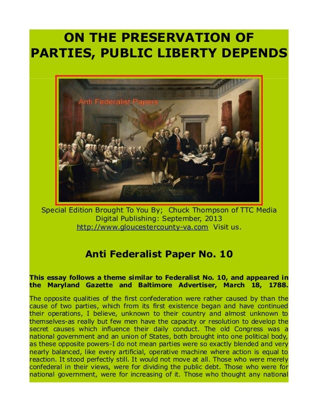 Sparknotes federalist papers