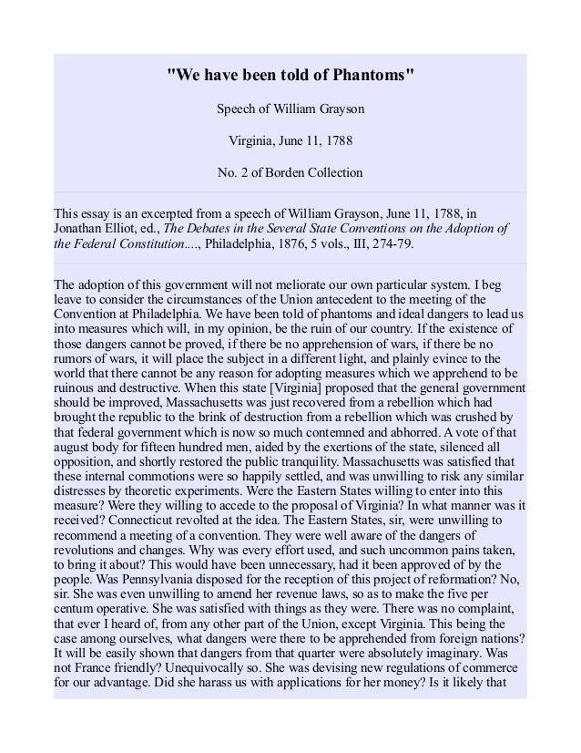 anti federalist essay
