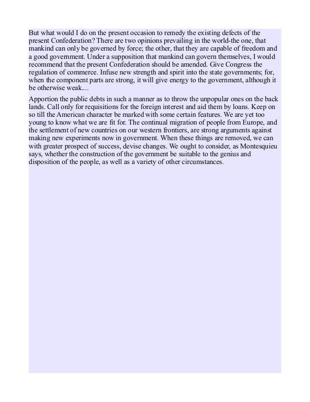 antifederalist papers The antifederalist papers no 78-79 the power of the judiciary (part 1) part one is taken from the first part of the brutus's 15th essay of the new-york journal on.