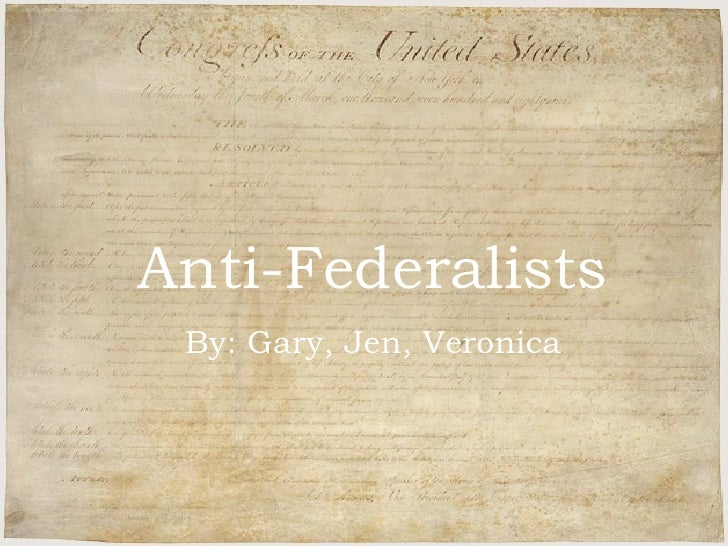 Federalists Vs. Anti-Federalists: Picking Up the Age-old Debate