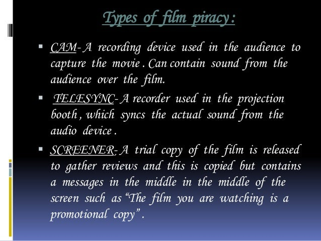 the film piracy problem Diana chang,piracy laws and the effective prosecution of pirates,  the growing piracy problem worldwide25 the piracy reporting centre.