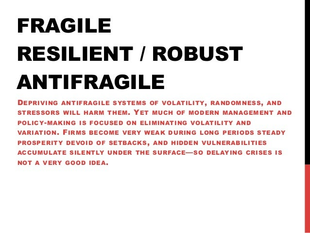 Notes from Antifragile