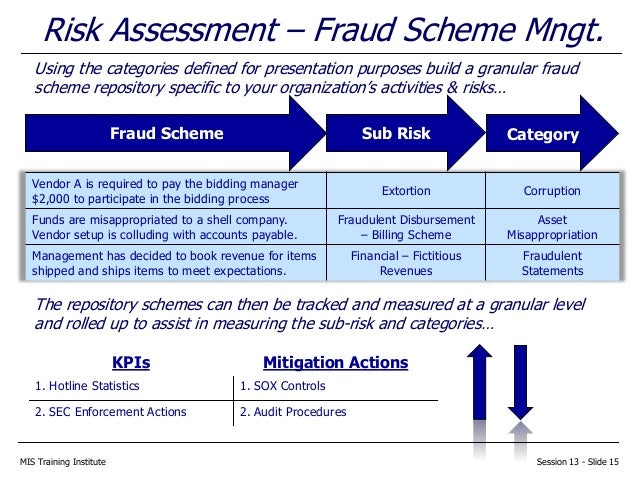 Fraud Schemes Exercise Essay Sample