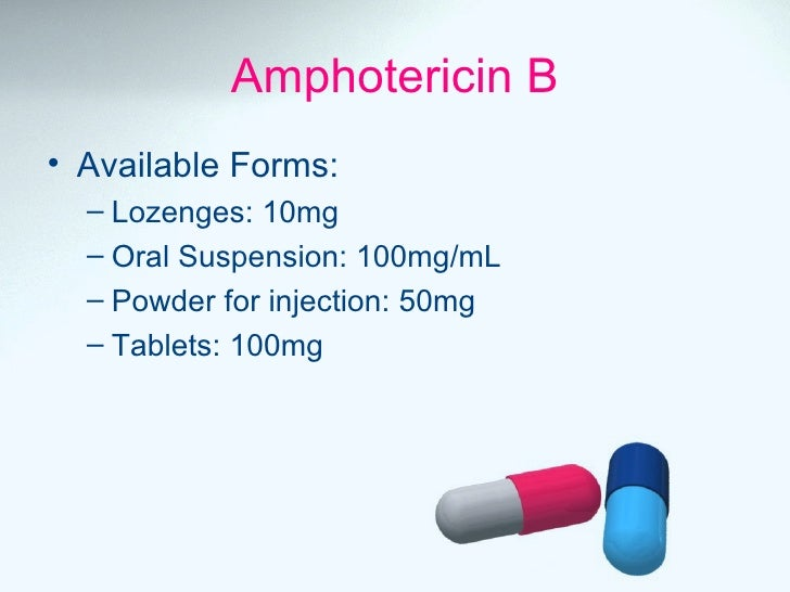 Antifungal drugs for Amphotericin b tablets