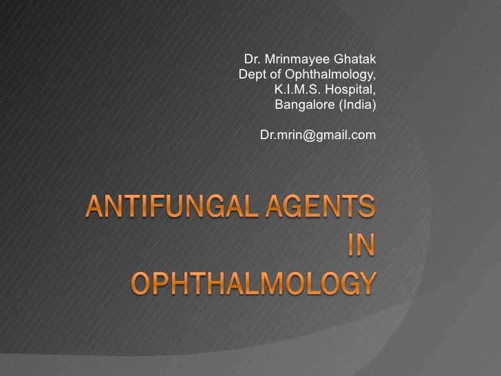 Dr. Mrinmayee Ghatak Dept of Ophthalmology, K.I.M.S. Hospital, Bangalore (India) [email_address]