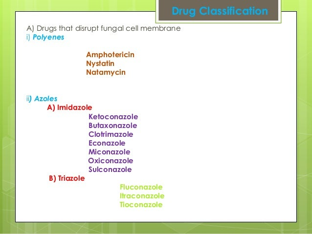 classification of antifungal drugs pdf
