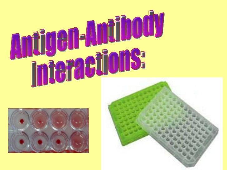 Antigen-Antibody Interactions: