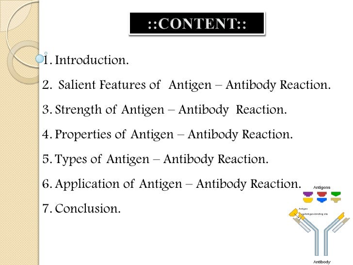 INTRODUCTION:• The antigens and the antibodies combine specificallywith each other. This interaction between them iscalled...