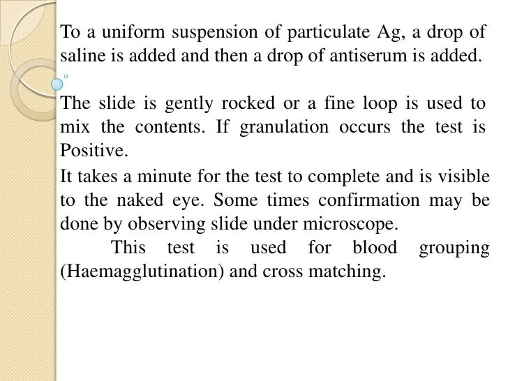 In this test Ab content of the patient's serum, ismeasured by adding a constant amount of antigen(Solmonella typhi) to the...