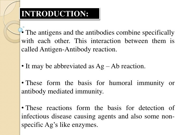 • When Ag – Ab reactions occur invitro, they areknown as serological reactions.• The reactions between Ag and Ab occur in ...