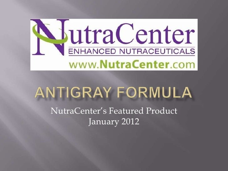 NutraCenter's Featured Product        January 2012