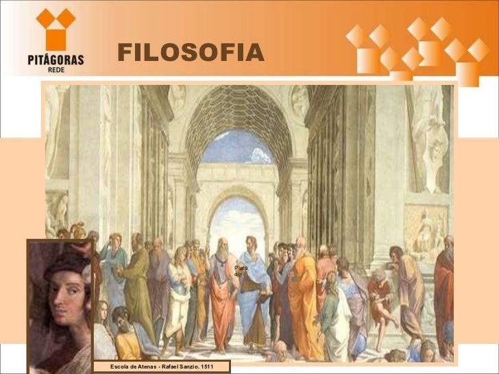 FILOSOFIA Escola de Atenas - Rafael Sanzio. 1511 Platão