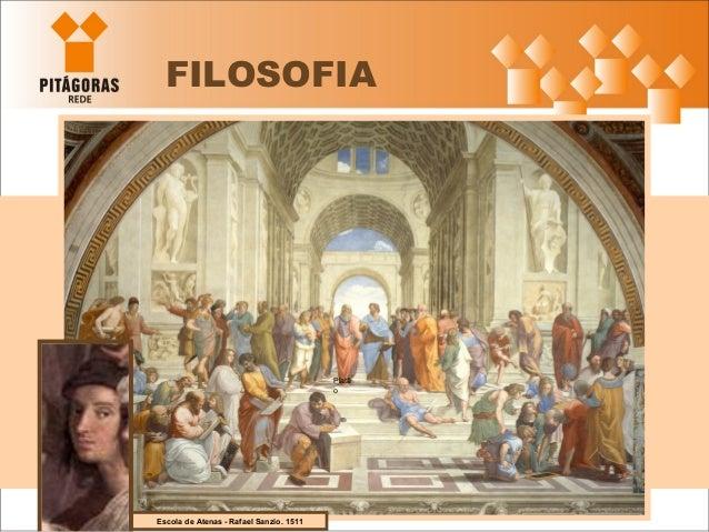 FILOSOFIA Escola de Atenas - Rafael Sanzio. 1511 Platã o